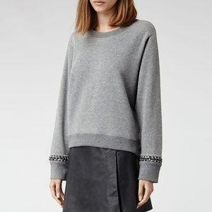 All Saints Soph Crop Sweatshirt.
